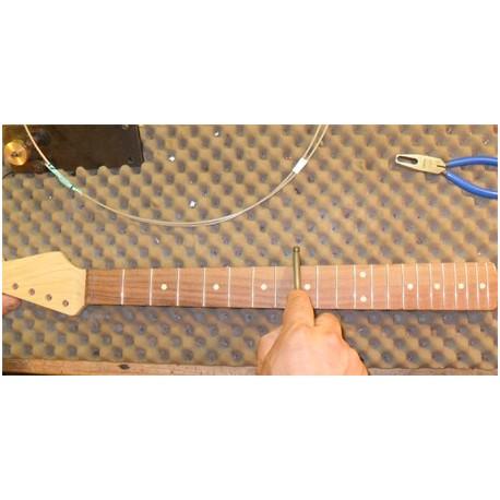Refrettage guitare ou basse avec filet de touche