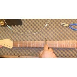 Refrettage guitare ou basse sur touche vernie